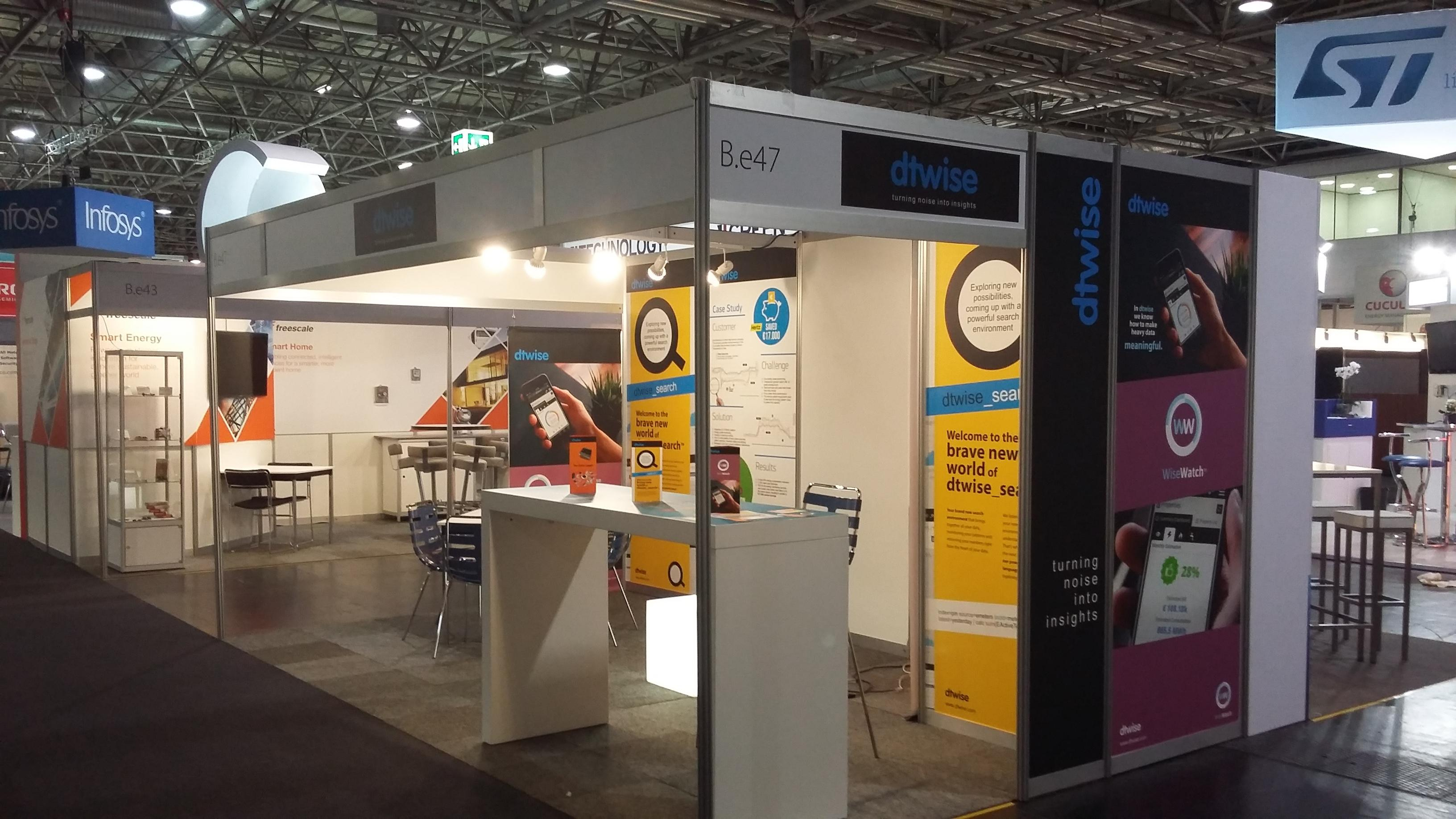 DTWISE Exhibition booth complete before the start of the European Utility Week 2015