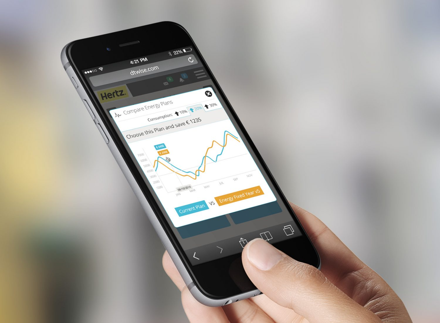 DTWISE Single Property BEST Energy Plan Compare INCR Cons_iphone-vertical